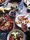 'Beef And BBQ' Buffet für Gäste