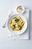 Tortelli di zucca (pasta with a pumpkin filling, Italy)
