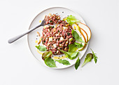 Tartare with pears and pine nuts