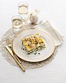 Lasagne mit Stockfisch und Zitronenpesto