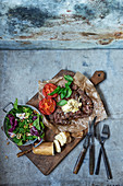 Steak with artichoke and Parmesan butter