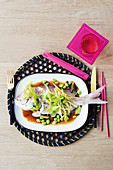 Steamed fish with vegies