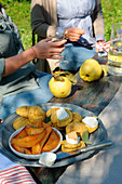 Pan de mei (Maisbrötchen mit Salbei und Quitten, Italien)