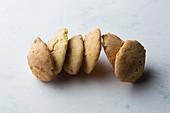 Homemade cornbread rolls