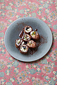 Chocolate maki with poppyseed rice