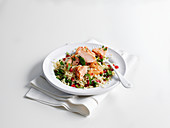 Hot Smoked Salmon with Bulgar Wheat Salad