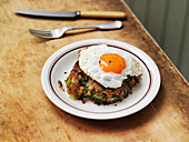 Fried Egg with Bubble And Squeak