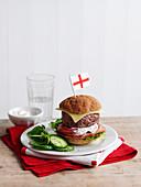 Burger mit englischer Fahne