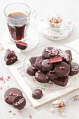 Pink Marzipan Chocolates