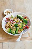 Stir-fried broccoli and tofu