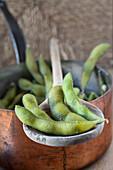 Steamed soya beans