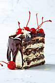 Black Forest - Cherry chocolate meringue torte
