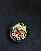 Lime and chilli prawn stir-fry