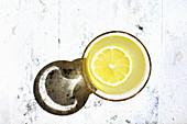 Bee s Knees Cocktail served in vintage glassware