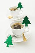 Weihnachtliche Teebeutel
