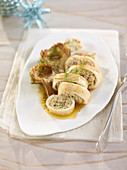 Cuttlefish with artichoke filling