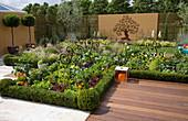 Drei-in-Eins Garten der Hampton Court Flower Show