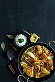 Tandoori coconut chicken with fennel and chickpeas