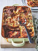 Lasagne al Forno mit Tomaten, Mozzarella und Parmesan