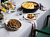 Andalusian spinach and chickpeas and lasagne