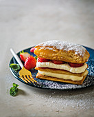 Mille-feuille with strawberries
