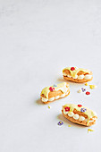 Mini lemon cream eclairs