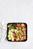 Tofu and eggplant parmigiana