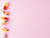 Exotische Fruchteis-Popsicles