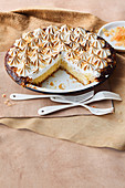 Citrus fruit meringue pie