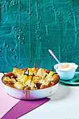 Fig and pear cider bake