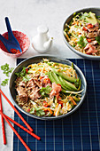 Super-easy tuna and crunchy slaw bowl