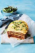 Slow cooker vegetarian lentil lasagne