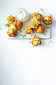 Mediterranean fritters with feta