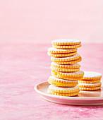 Sandwich Cookies mit Orange Curd
