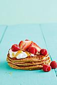 Muesli pancakes with berries