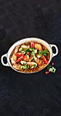One-pot chicken and rice sambar (India)