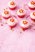 Easy vanilla flower cupcakes