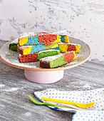 Colourful fantasy cake