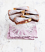 Gingerbread cake with almonds and cocoa