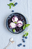 Schwedenmilch-Heidelbeer-Eis