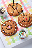 Sweet decorated cookies