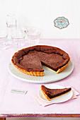 A chocolate tart