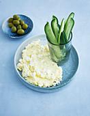 Greek cream cheese