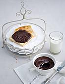 Dark chocolate spread and nut nougat cream