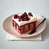 Cranberry poke cake