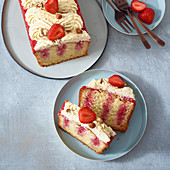 Strawberry smoothie poke cake