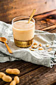 Peanut butter and banana smoothie
