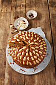 Irish fruit cake with almonds