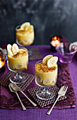 Banana Cheese cakes with Baileys