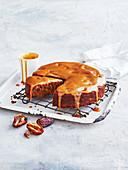 Sticky Date Pudding mit Dinkel- und Mandelmehl (England)